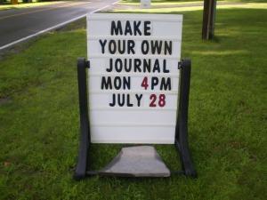 Billboard for journal making class