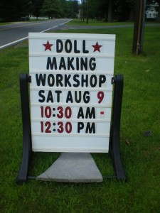Doll Making class sign1