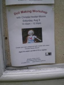 Doll making workshop flyer