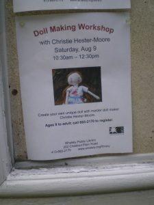 Doll making workshop flyer