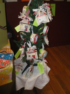 A festive tree display .
