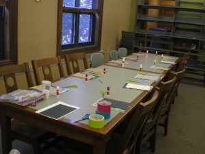 Fully locked, loaded and ready to go at the Indian Orchard  Journal Making workshop in January.