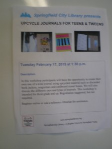 The flyer for the workshop (more then a bit blurry).