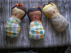 Meet the new cuties from my workshop. We just have to keep it quiet because they are fast asleep.